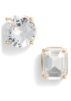 Kate Spade mismatched faceted stud earrings