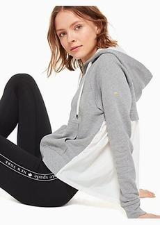 Kate Spade mixed media full zip hoodie