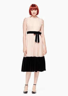 Kate Spade mixed velvet chiffon dress