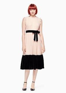 Kate Spade mixed velvet chiffon dress