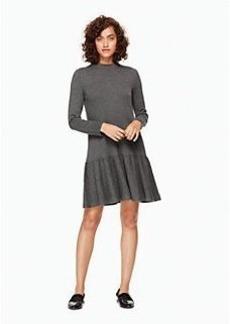 mock neck knit flounce dress
