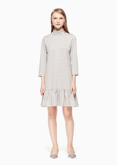 mock neck stripe knit dress