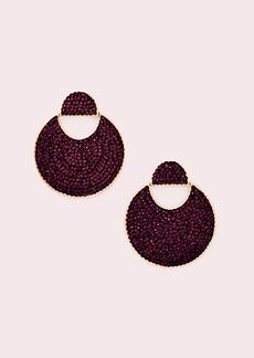 Kate Spade mod scallop pavé drop earrings