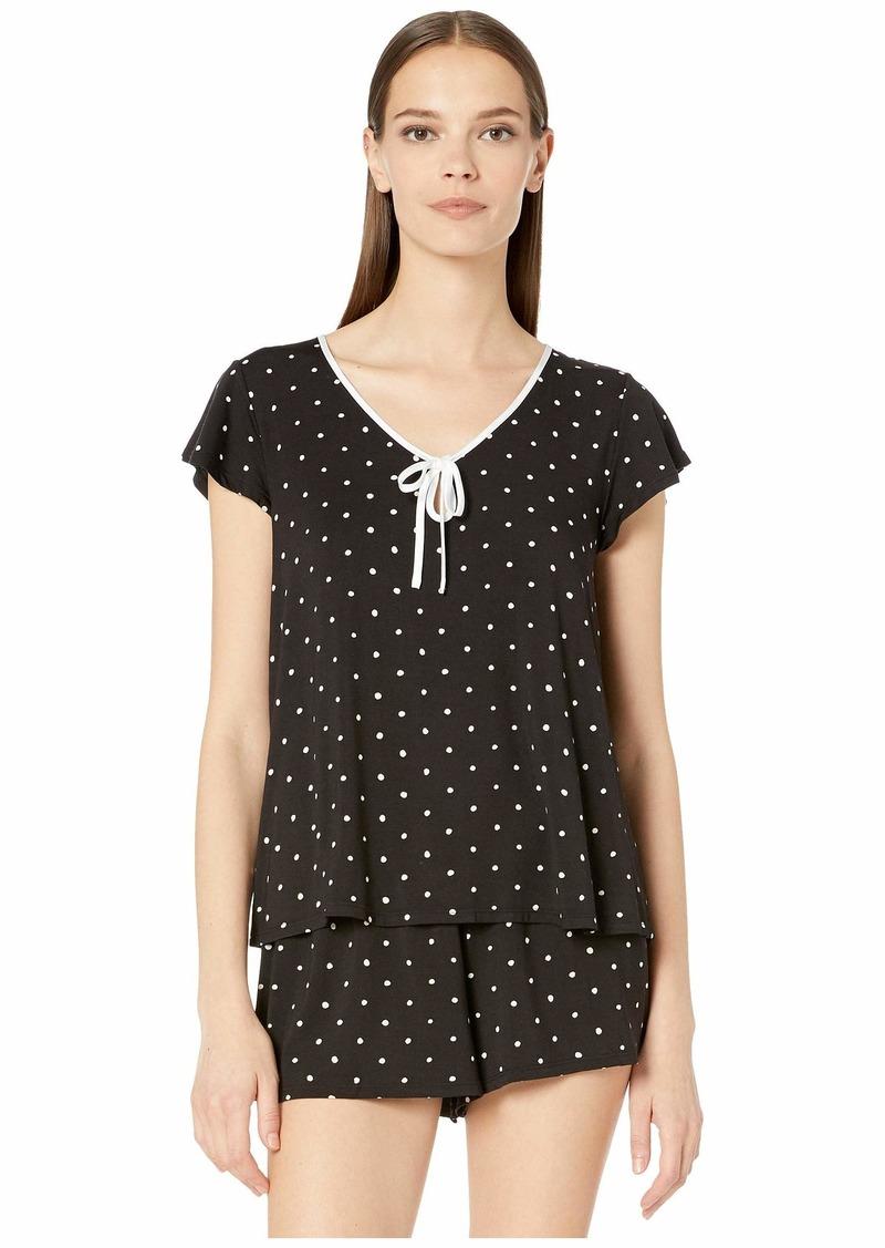 Kate Spade Modal Jersey Doodle Dot Short Set