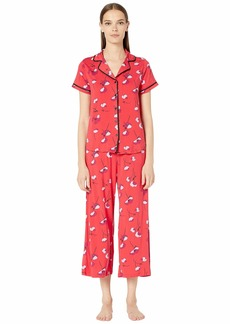 Kate Spade Modal Jersey Printed Short Sleeve Cropped PJ Set
