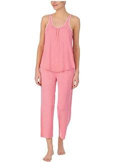 Kate Spade Modal Jersey Sleeveless Cropped PJ Set