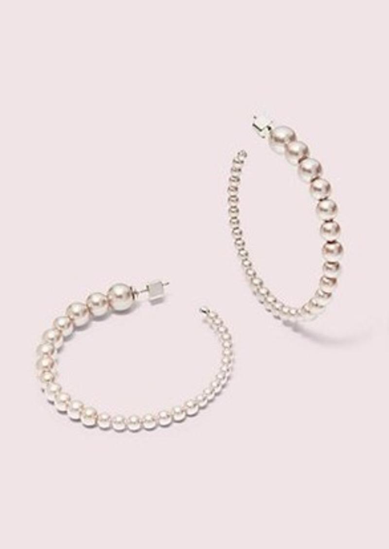 Kate Spade modern pearls hoops