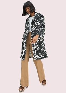 Kate Spade monstera grove-print coat