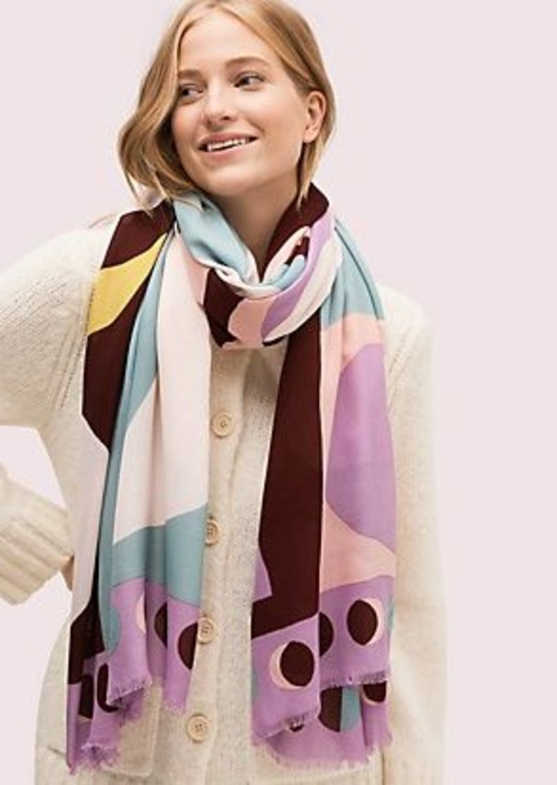 Kate Spade moon geo oblong scarf