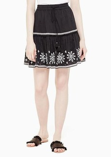 Kate Spade mosaic embroidered skirt
