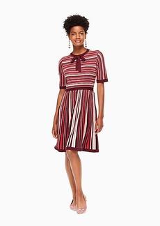 multi stripe sweater dress