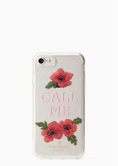 Kate Spade needlepoint call me iphone 7/8 case