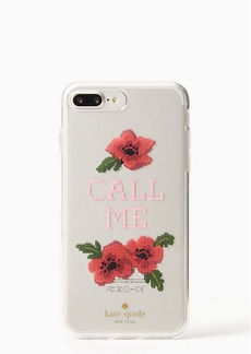 Kate Spade needlepoint call me iphone 7/8 plus case