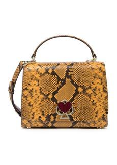 Kate Spade nicola medium snake embossed leather satchel