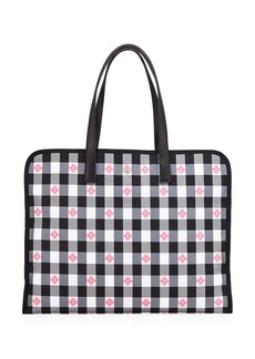 Kate Spade nylon check xl tote bag