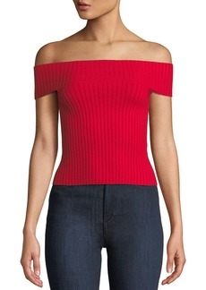 Kate Spade off-the-shoulder cropped sweater