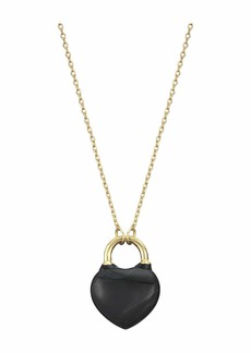 Kate Spade Open Heart Stone Lock Mini Pendant Necklace