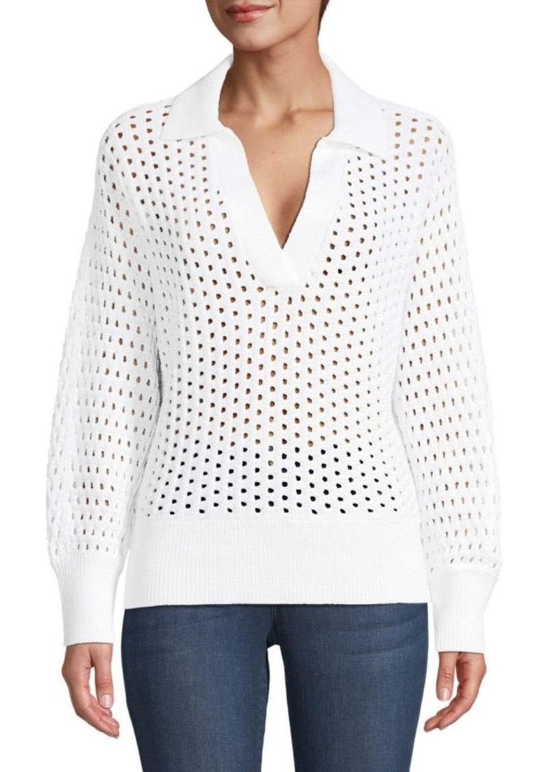 Kate Spade Open Stitch Polo Sweater