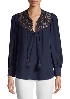 Kate Spade Out West Embroidered Peasant Blouse