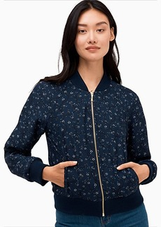 Kate Spade Out West Wild Roses Reversible Bomber Jacket