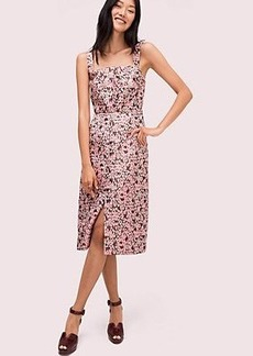 Kate Spade panthera jacquard midi dress