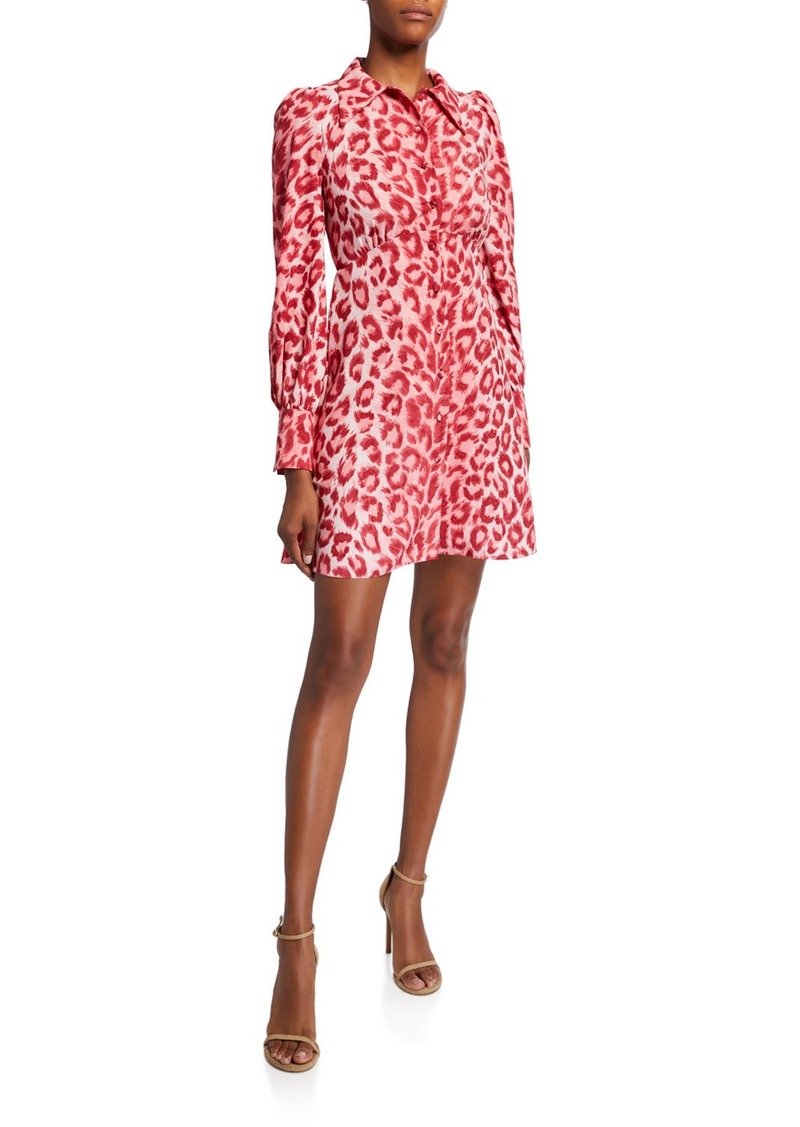Kate Spade panthera long-sleeve shirtdress