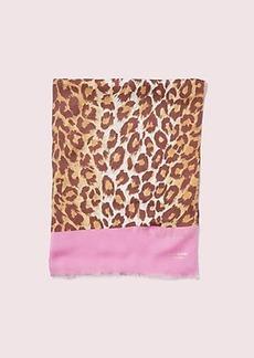 Kate Spade panthera oblong scarf