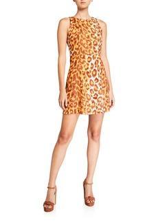 Kate Spade panthera sleeveless mini ponte dress