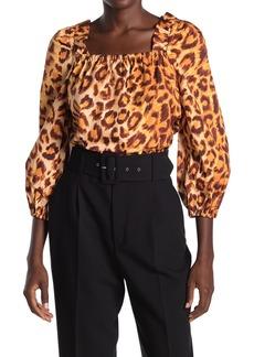 Kate Spade panthera square neck top