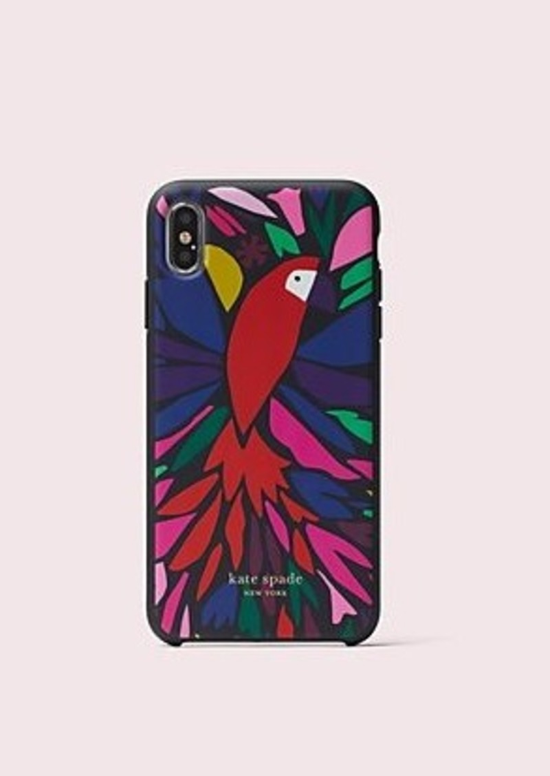 Kate Spade papercut parrot iphone xs max case