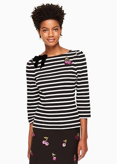 Kate Spade patch embellished stripe top