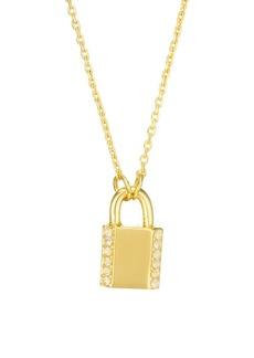 Kate Spade Pavé Lock Mini Pendant Necklace