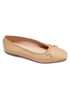 Kate Spade Pavlova Cap-Toe Leather Ballet Flats