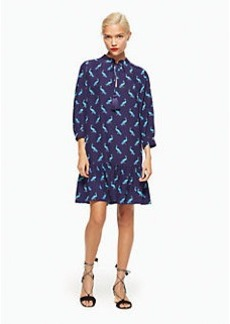 peacock silk dress