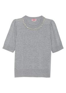 Kate Spade Pearl Crystal Collar Sweater