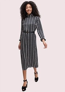 Kate Spade pearl drops high neck dress