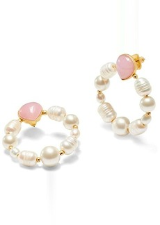 Kate Spade Pearl Drops Hoops Earrings