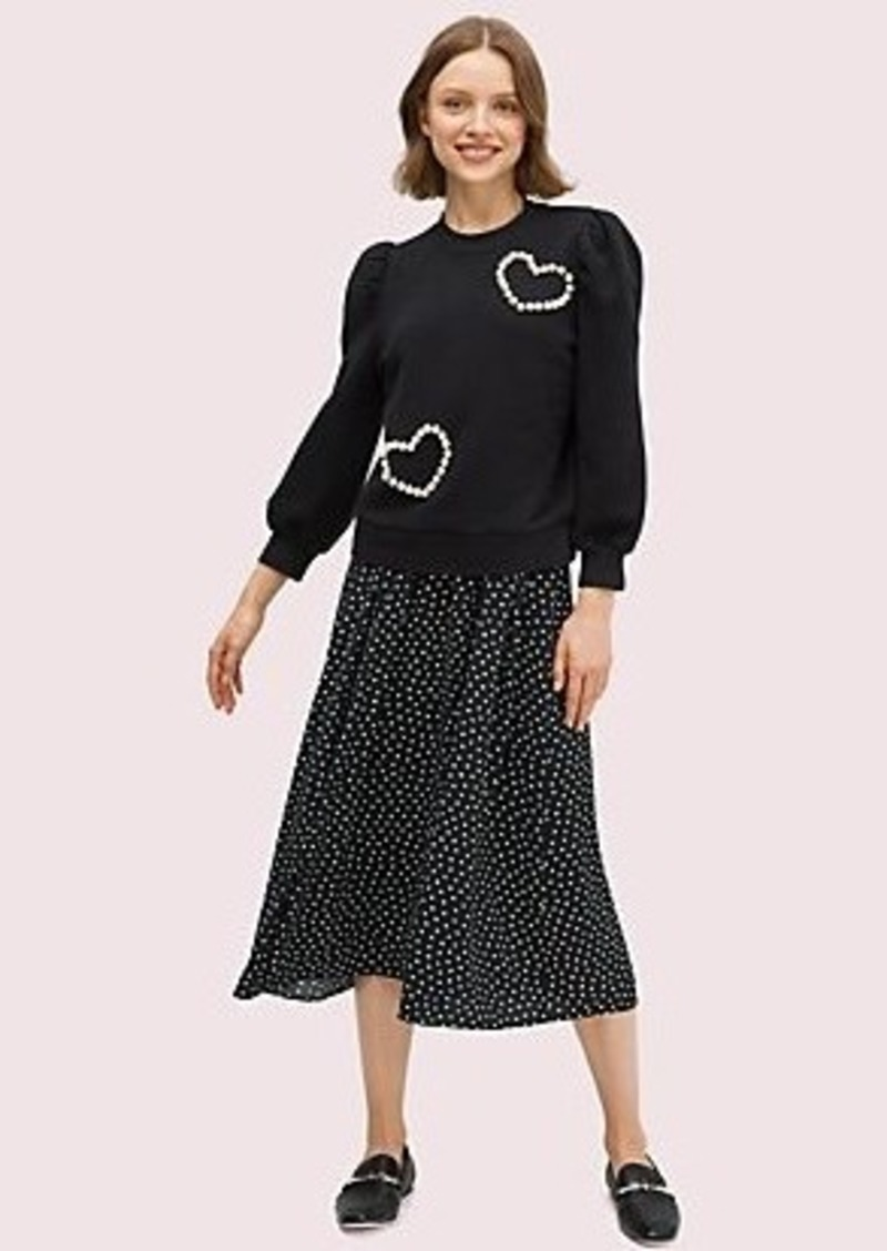 Kate Spade pearl pavé heart sweatshirt