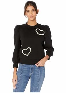 Kate Spade Pearl Pave Heart Sweatshirt