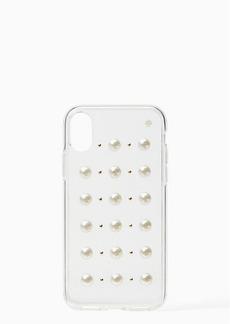 Kate Spade pearl stud iphone x & xs case