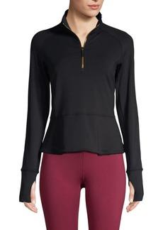 Kate Spade Peplum Half-Zip Jacket