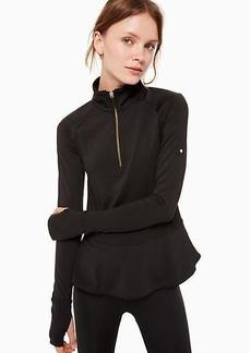 Kate Spade peplum half zip jacket