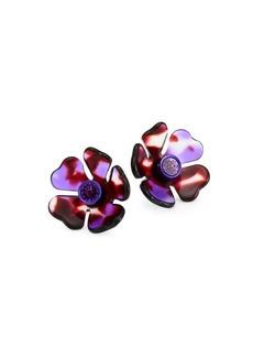 Kate Spade Petal Pushers Crystal & Acetate Stud Earrings