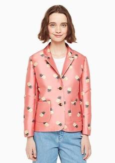 Kate Spade pineapple jacquard jacket