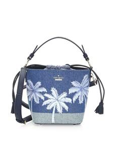 Kate Spade Pippa Denim & Leather Bucket Bag