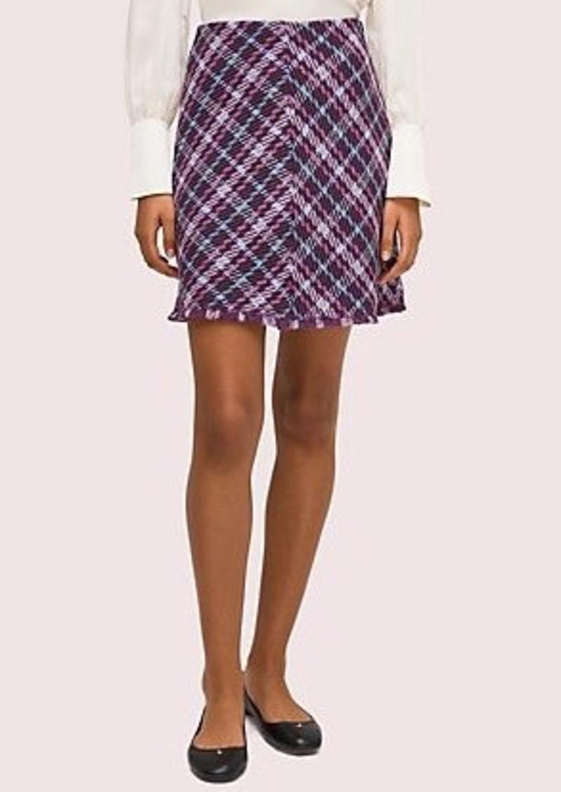 Kate Spade plaid tweed skirt