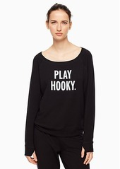 Kate Spade play hooky relaxed long sleeve pullover