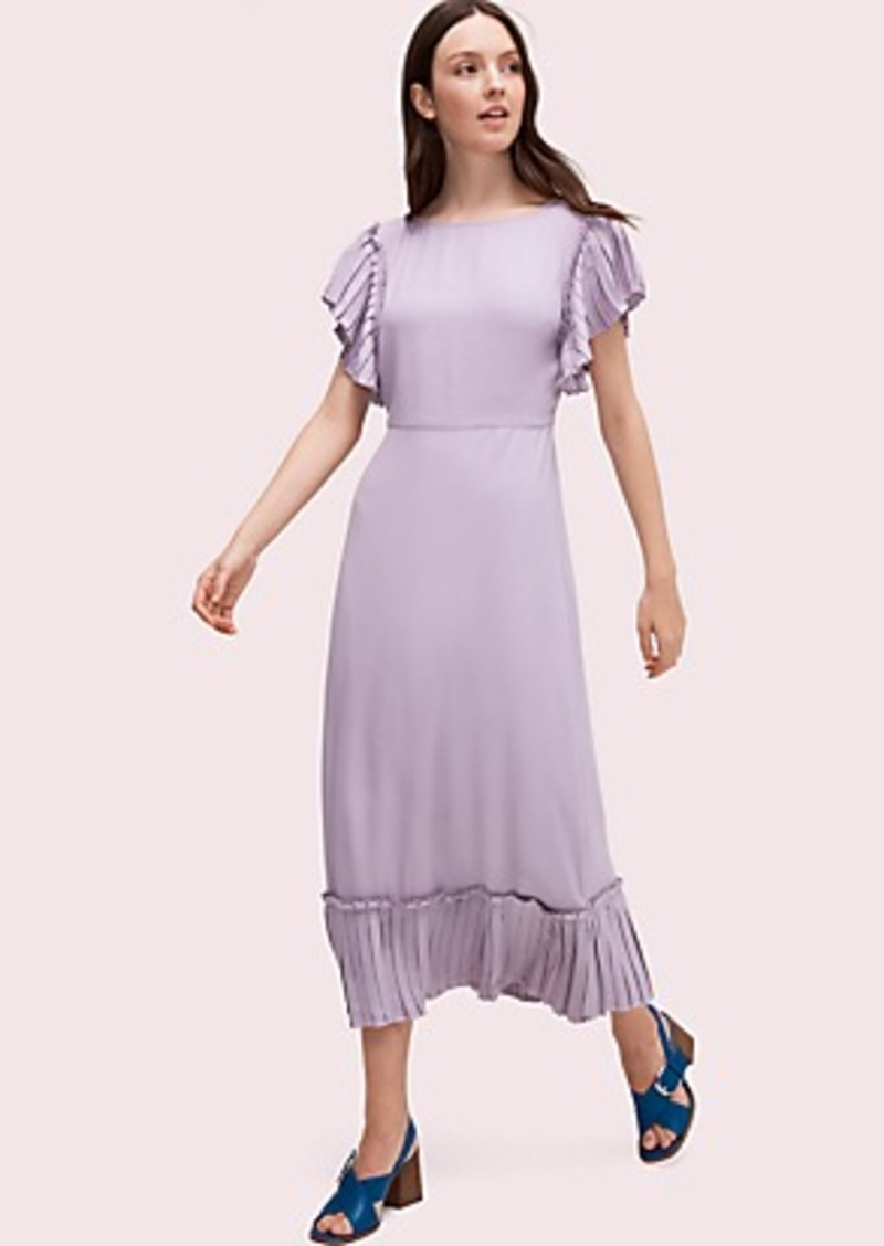 Kate Spade pleated crepe dress