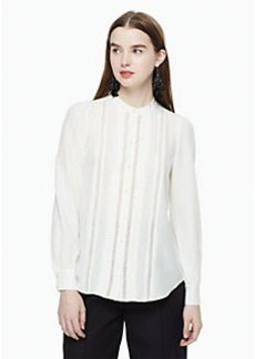 Kate Spade pleated silk blouse