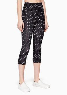 Kate Spade polka dot scallop legging